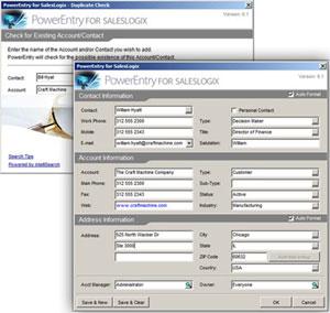 PowerEntry for SalesLogix LAN